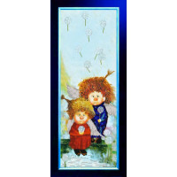 Конёк НИК9849 Ангелочки. Схема для вышивания бисером