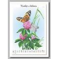 Крестомания 019Н Клевер и бабочки. Рисунок на холсте