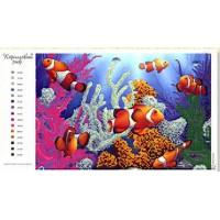 Крестомания 027А Коралловый риф. Рисунок на холсте