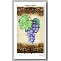 Крестомания 028Н Черный виноград. Рисунок на холсте