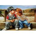 Крестомания 048Л Первый поцелуй. Рисунок на холсте