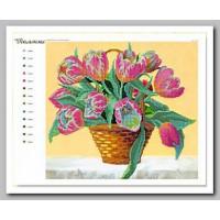 Крестомания 049Н Тюльпаны. Рисунок на холсте