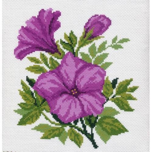 Вышивка с фиолетовыми цветами 158