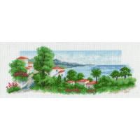 Матренин Посад 0868 Залив. Рисунок на канве