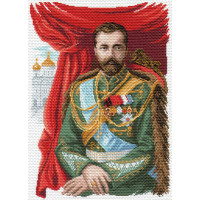 Матренин Посад 1681 Император Николай II. Рисунок на канве