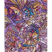 Матренин Посад 1802 Витраж с бабочками. Канва с рисунком