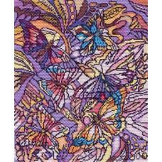 Схема для вышивания 1802 Витраж с бабочками. Канва с рисунком