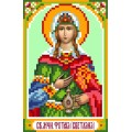 Матренин Посад 3017 Икона Св. Фатинья (Светлана). Рисунок на шёлке