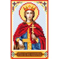 Матренин Посад 3038 Икона Св. Екатерина. Рисунок на шёлке