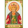 Матренин Посад 3041 Икона Св. князь Владимир. Рисунок на шёлке