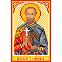 Матренин Посад 3043 Икона Св. Петр Финикийский. Рисунок на шёлке