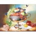 Матренин Посад 4042 Ваза с фруктами. Рисунок на шёлке