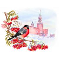 Матренин Посад 4151 Московская зима. Рисунок на шёлке