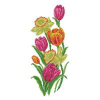 Матренин Посад 4518 Тюльпаны с нарциссами. Рисунок на шёлке