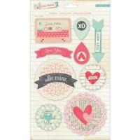 "American Crafts 683357 Набор объемных наклеек ""Love Notes"""