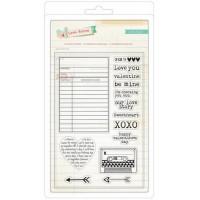 "American Crafts 683359 Набор прозрачных штампов ""Love Notes"" 14шт"