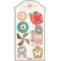 "American Crafts 683426 Набор объемных наклеек ""Styleboard"""