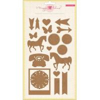 """American Crafts 683427 Пробковые стикеры """"Icon Shapes"""""""