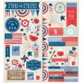 """American Crafts 732504 Набор кардсток-стикеров """"Americana"""""""