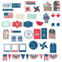 American Crafts 732506 Набор вырубок «Americana»