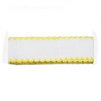 Bestex 7707138 Канва ленточная, 100% хлопок, цвет белый/желтый