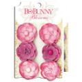 "Bo Bunny 11411469 Бумажные цветы ""Blush Pansy"""
