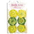 "Bo Bunny 11411471 Бумажные цветы ""Clover Pansy"""