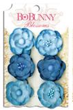 """Bo Bunny 11411472 Бумажные цветы """"Denim Blue Pansy"""""""