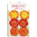 """Bo Bunny 11411473 Бумажные цветы """"Harvest Orange Pansy"""""""
