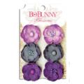 "Bo Bunny 11411475 Бумажные цветы ""Plum Purple Pansy"""
