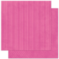 "Bo Bunny 12PPS407 Бумага для скрапбукинга  ""Pink Punch Stripe"""