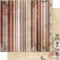 Bo Bunny 12TS660 Лист бумаги «Timepiece Stripe»