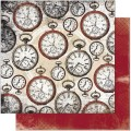 Bo Bunny 12TT677 Лист бумаги «Timepiece Tick Tock»