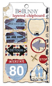 "Bo Bunny 13109339 Украшение декоративное из картона ""Detour Layered Chipboard"""