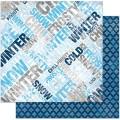 Bo Bunny 13601529 Лист бумаги «Powder Mountain Words Paper»