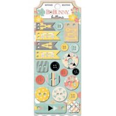 "Bo Bunny 15608179 Набор декоративных пуговиц ""Baby Bump Buttons"""