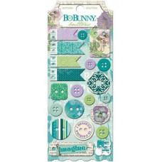 """Bo Bunny 16208378 Набор декоративных пуговиц """"Enchanted Garden Buttons"""""""