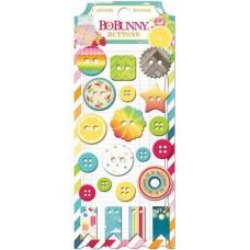 "Bo Bunny 16308399 Набор декоративных пуговиц ""Lemonade Stand Buttons"""