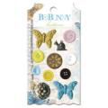 "Bo Bunny BUC111 Набор декоративных пуговиц ""Country Garden Buttons"""