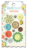 "Bo Bunny BUH514 Набор декоративных пуговиц ""Hello Sunshine Buttons"""