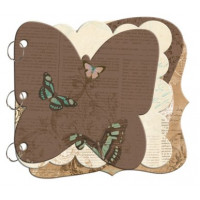 "Bo Bunny CBB070 Заготовка для мини-альбома ""Butterfly"""