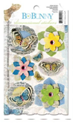 "Bo Bunny DSC043 Стикеры-украшения ""Country Garden Dimensional Sticker"""