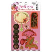 "Bo Bunny DSG930 Стикеры - украшения ""Garden Girl Dimensional"""