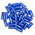 Бусы полимерные, синие