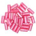 Бусы полимерные, розовые