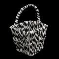 7712338 Мини-корзинка плетёная, цвет: черно-белый