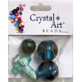 Crystal Art 1136TDM/Teal Бусины стеклянные миксы Teal