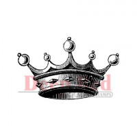 "Deep Red Stamps 3x403022 Резиновый штамп ""Crown for Royalty"""