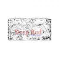"Deep Red Stamps 3x404208 Резиновый штамп ""Grunge Ticket"""