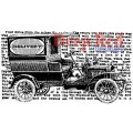 """Deep Red Stamps 3x404211 Резиновый штамп """"Vintage Delivery Truck"""""""